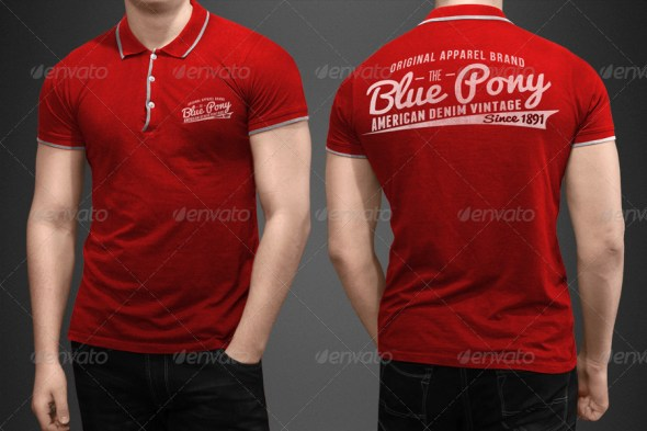 35 best t shirt mockup templates free psd download for Free polo shirt mockup