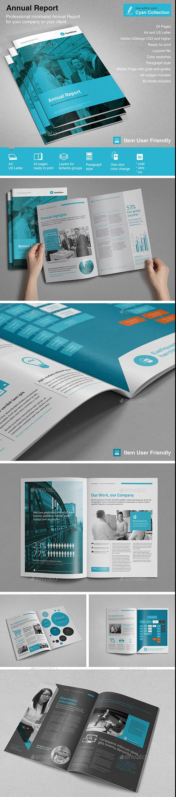 32 InDesign Annual Report Templates For Corporate Businesses – Corporate Report Template