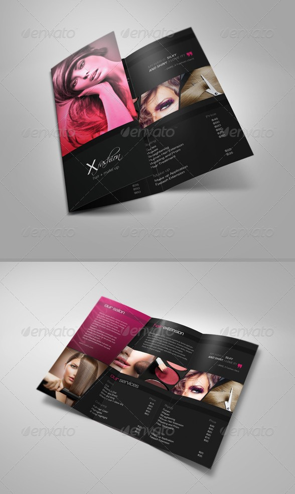 Hair & Beauty Salon Tri-Fold Brochure