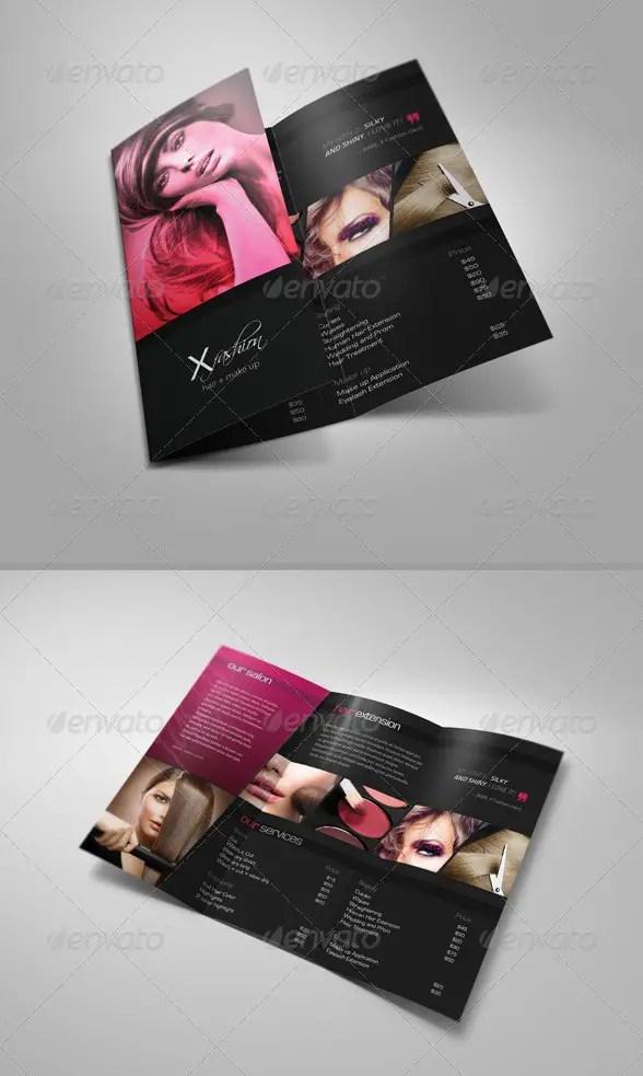 Hair & Beauty Salon Tri-Fold Brochure