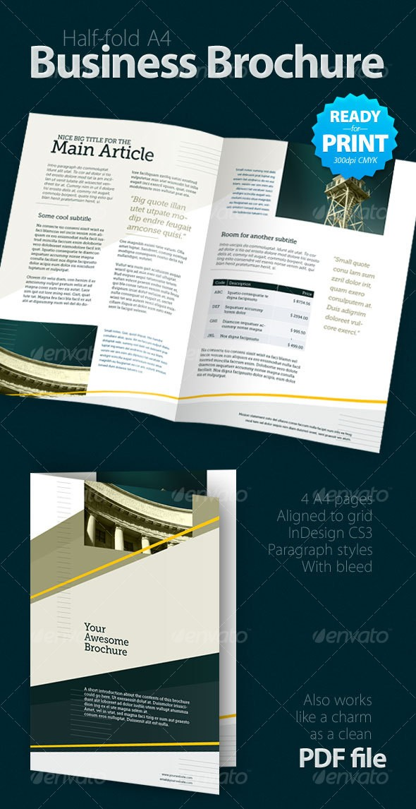 Half Fold Business Brochure