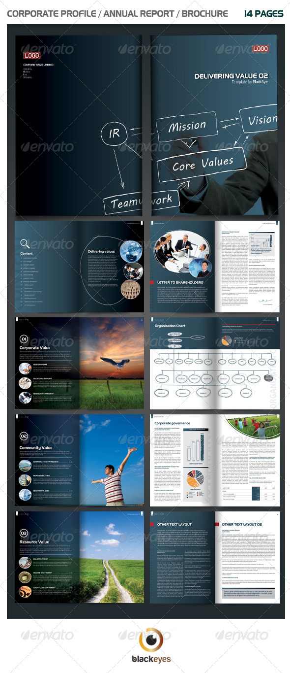 indesign annual report templates for corporate businesses unique annual report