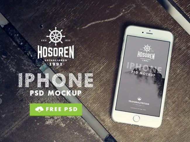 10 Photorealistic iPhone 6 FREE PSD Mockups