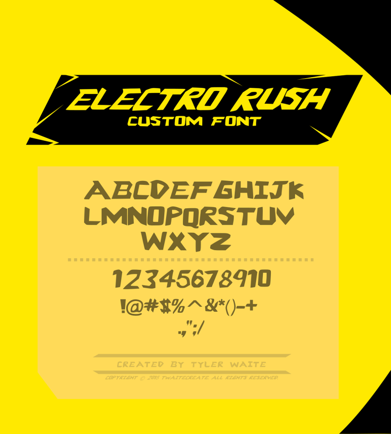 Electro Rush Font