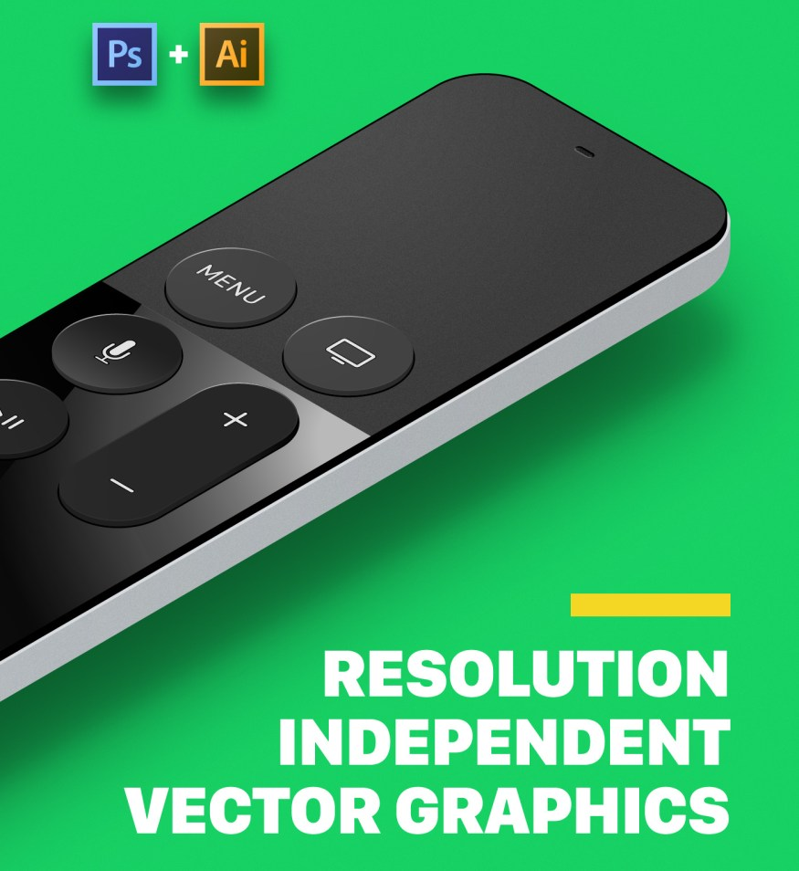 Free Apple TV Vector Mockups Kit