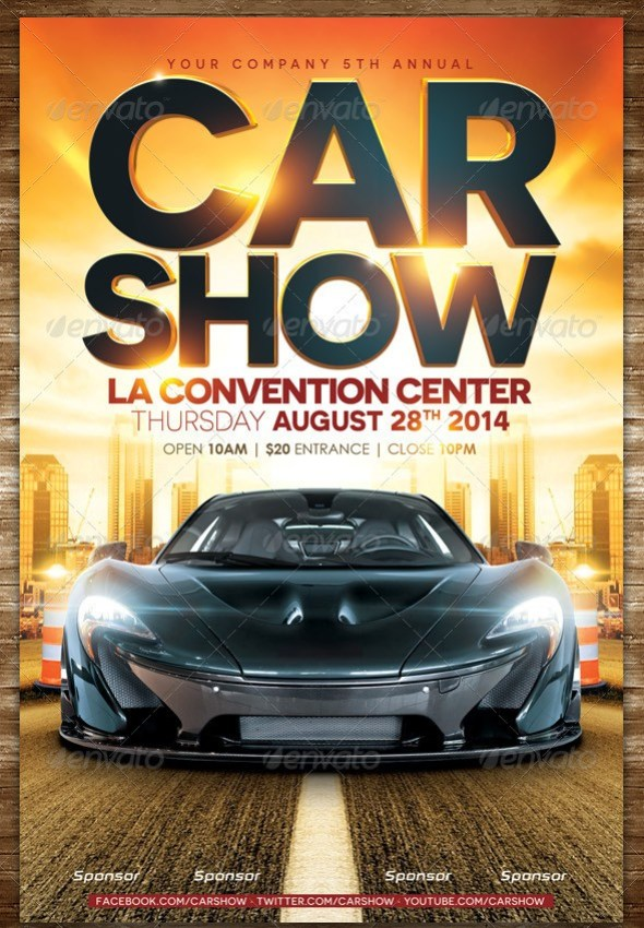 Car Show Flyer - Street (Horizontal & Vertical)