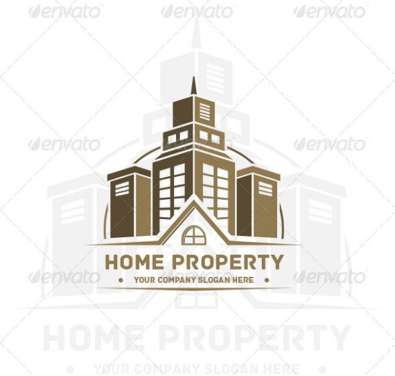 Home Property Vintage Arch Logo