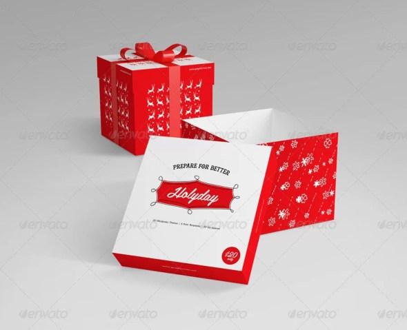 Realistic Gift Box Mockup