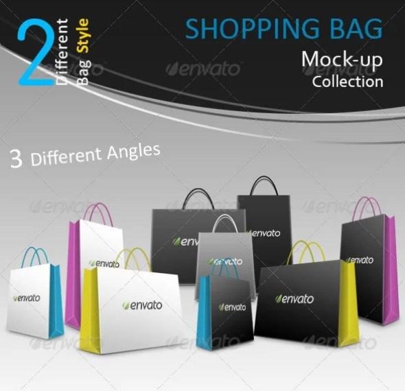 Shopping Bag Mockups Collection