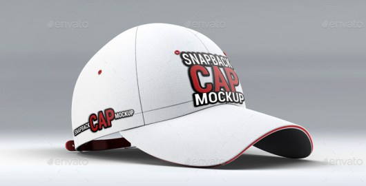 Snapback Baseball Cap Mockup