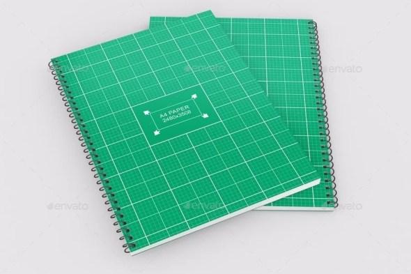 Spiral Notebook Mockup