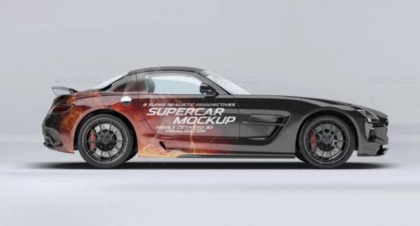 Supercar Mercedes SLS AMG Mockup