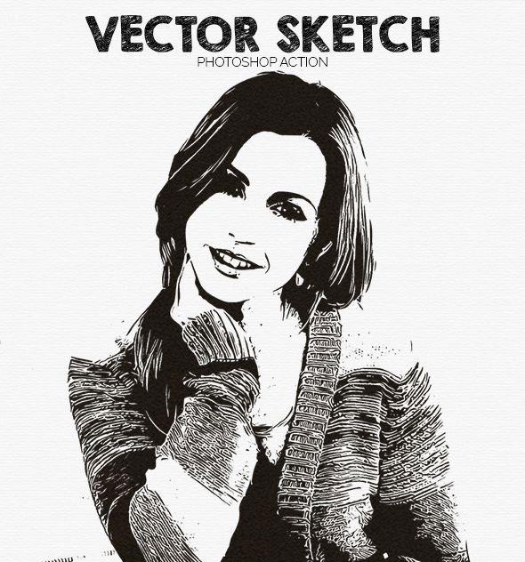 Vector Sketch Photoshop Action