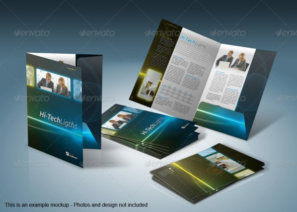 A4 Document Folder Mockup