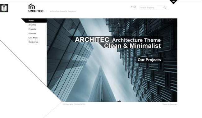 Architecture HTML Template