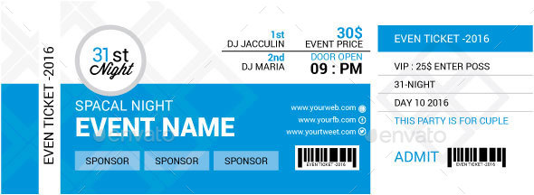 46 Print Ready Ticket Templates Psd For Various Types Of Events .  Event Tickets Template