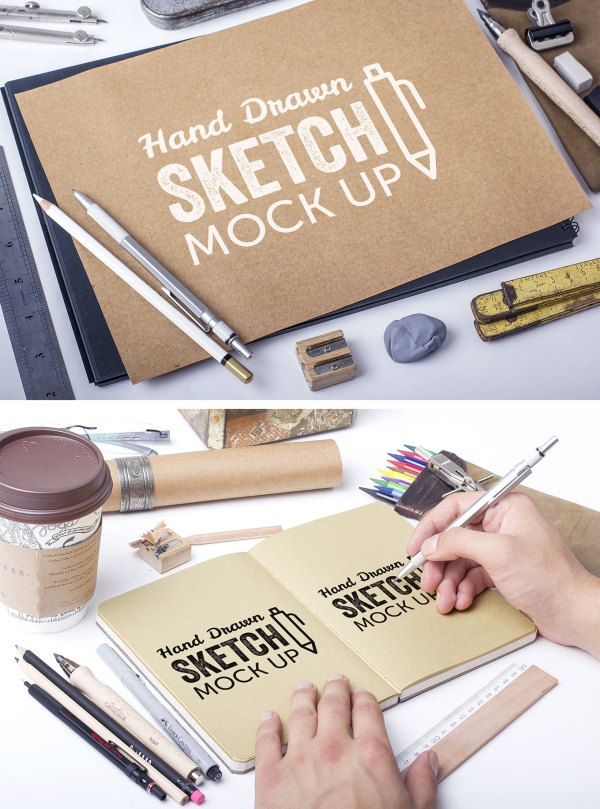 Hand Drawn Sketch Mockup