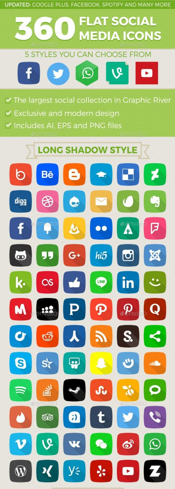360 Social Media Icons