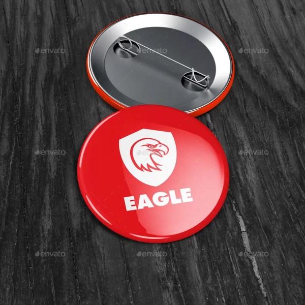 Badge Button Mockup