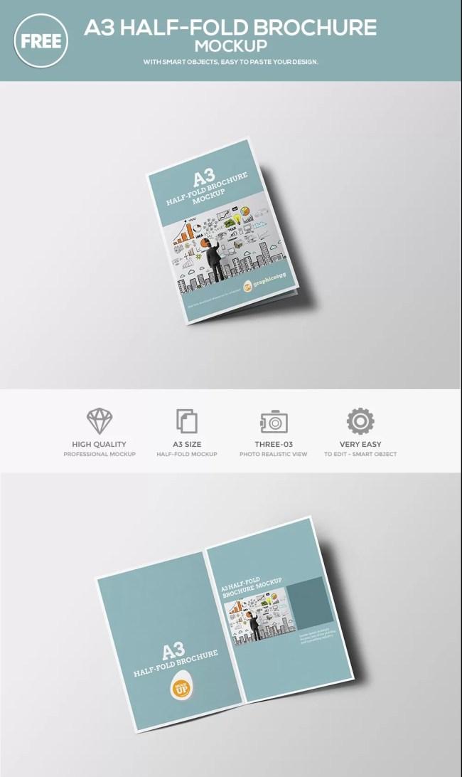 free half fold brochure template - 12 free brochure mockup psd download psdtemplatesblog