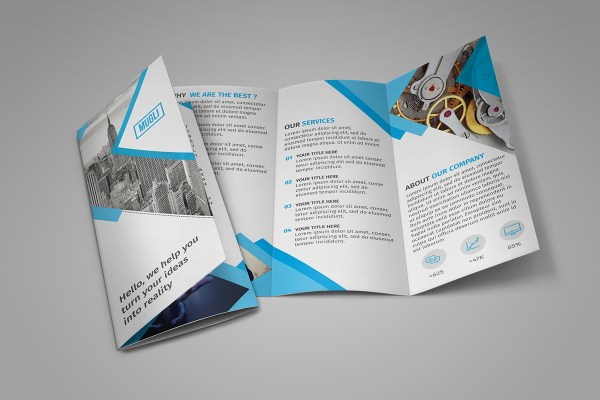 65 print ready brochure templates free psd indesign ai for Free printable tri fold brochure template