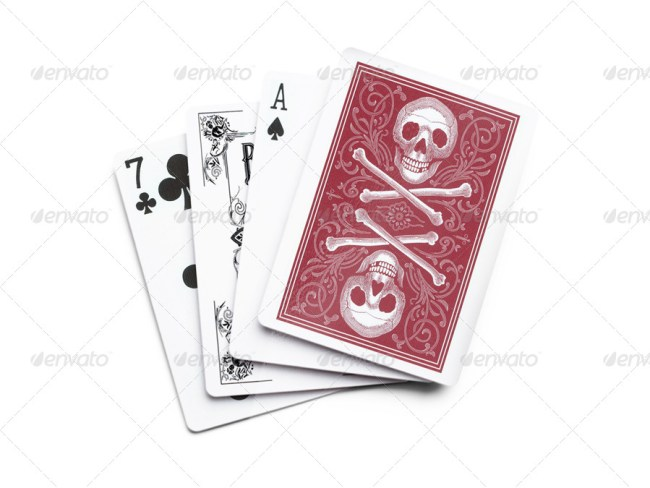 Photorealistic Playing Card Mockup