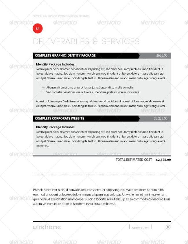 Project Proposal Template Bundle
