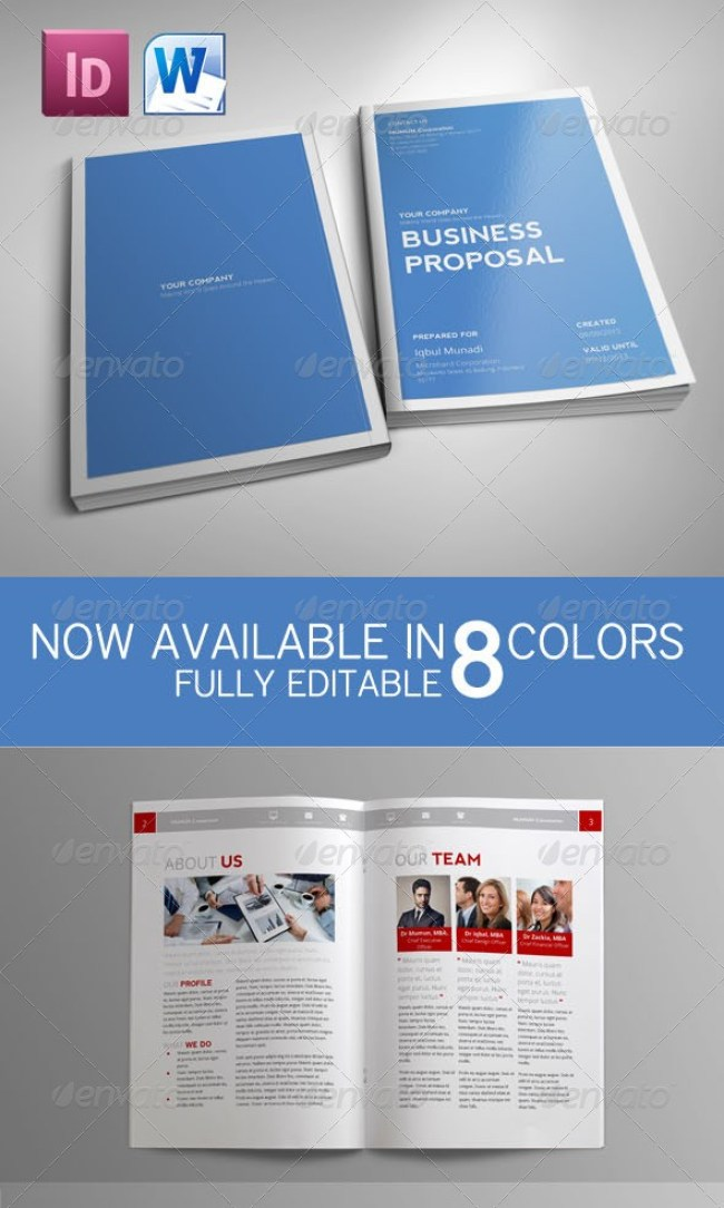 Best Business Proposal Templates In Indesign Psd  Ms Word