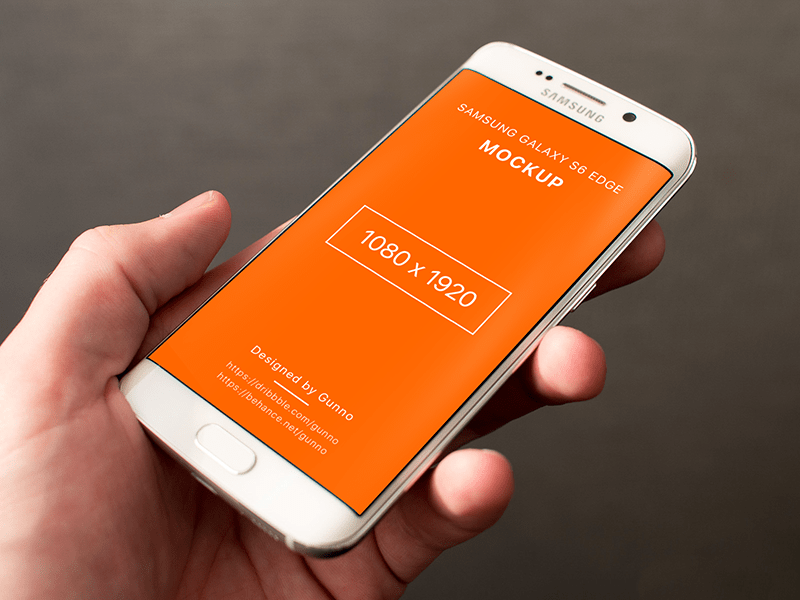 Free Mockup - Galaxy S6 Edge