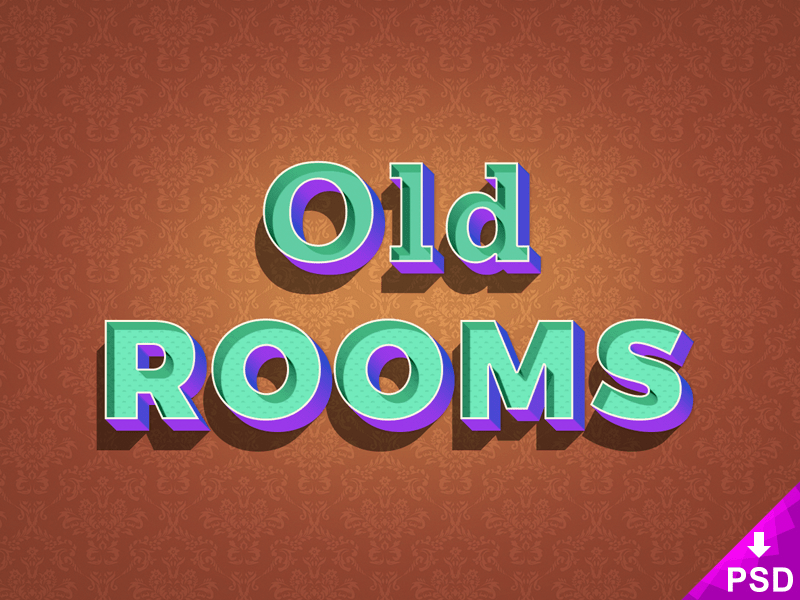 Old Rooms Text Style