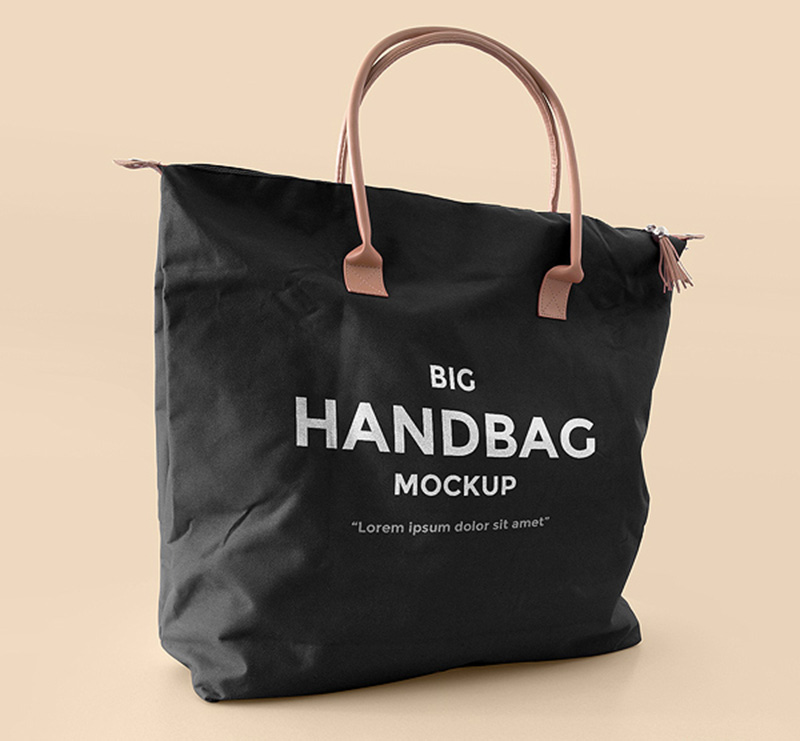 great handbag shopping bag mockup design free psd