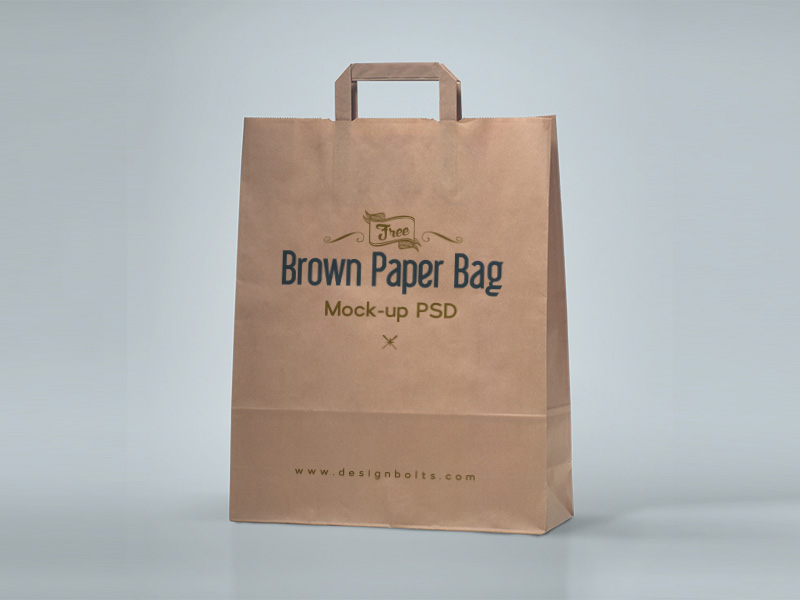 free shopping bag paper bag psd