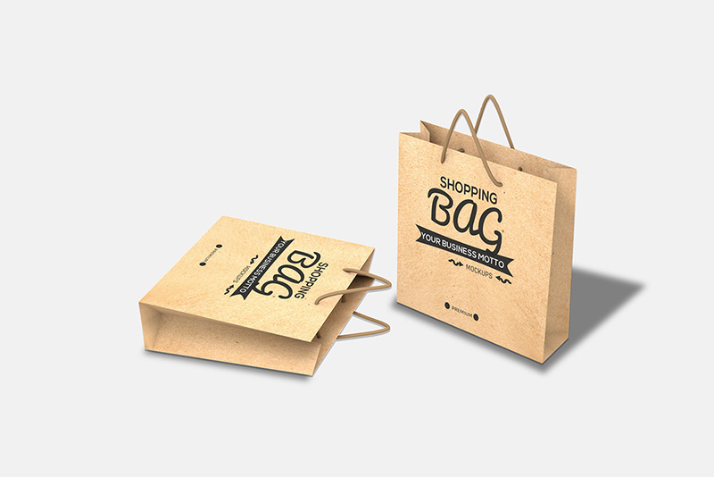 best free shopping bag poly bag psd mockups