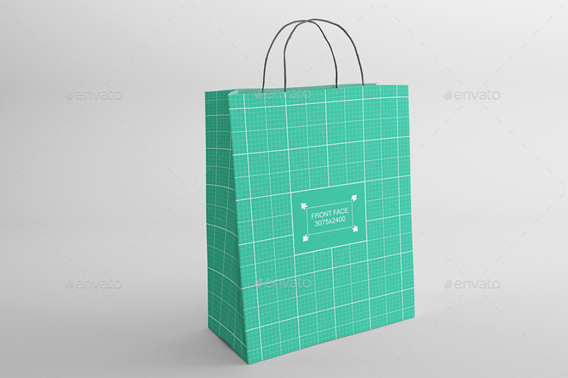great shopping bag poly bag psd mockup