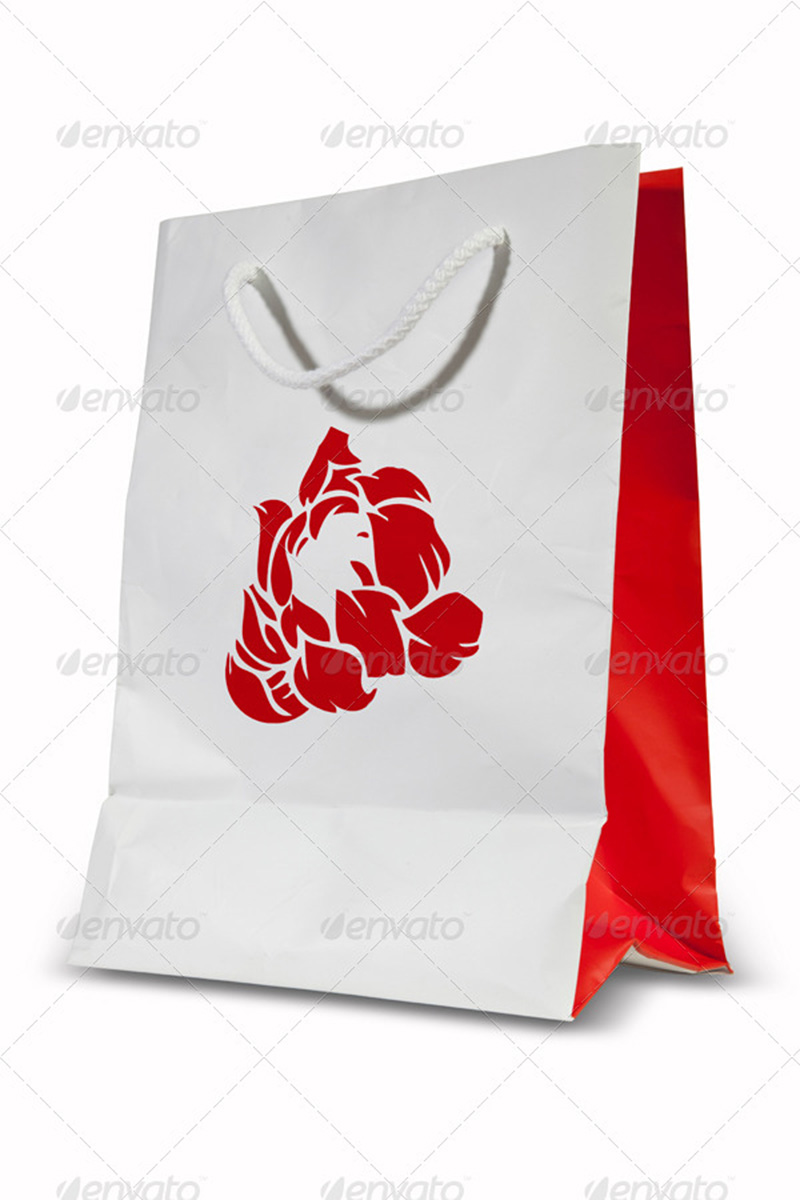 best premium shopping bag template design