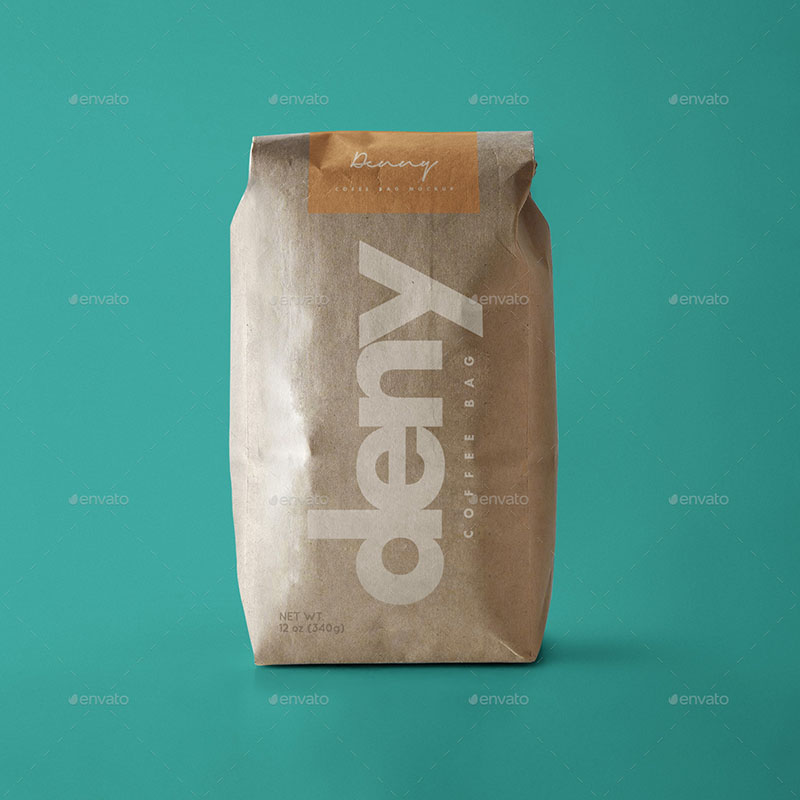 personalized coffee bag mockups