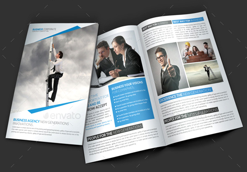 unique corporate brochure template design