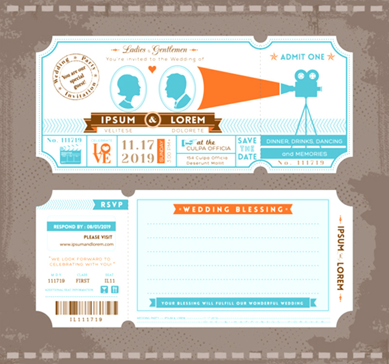 awesome psd template event ticket mockup psd