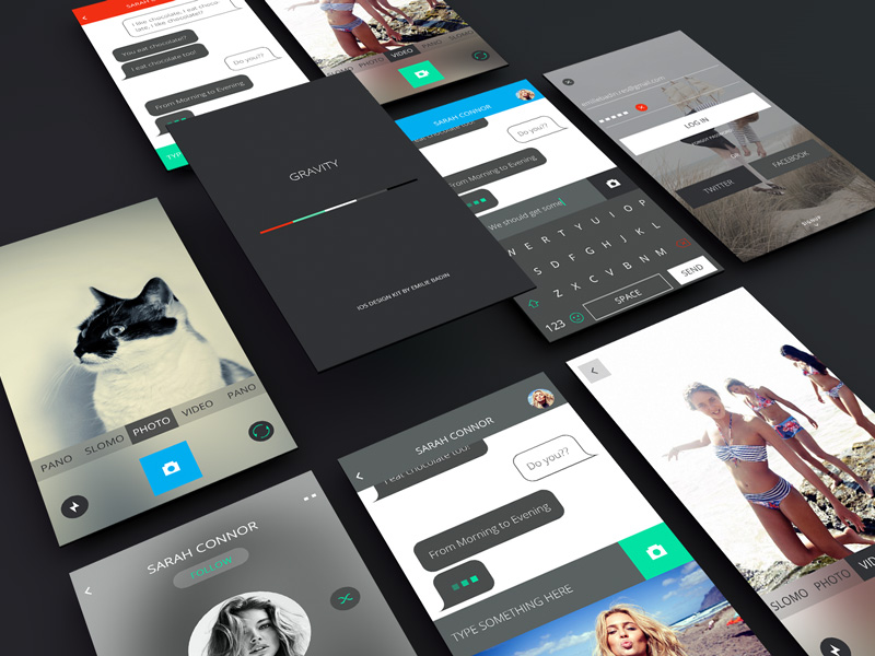 great mobile app ui mockup design free psd