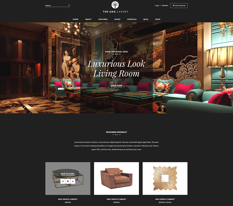 modern premium wordpress eCommerce theme for eshop