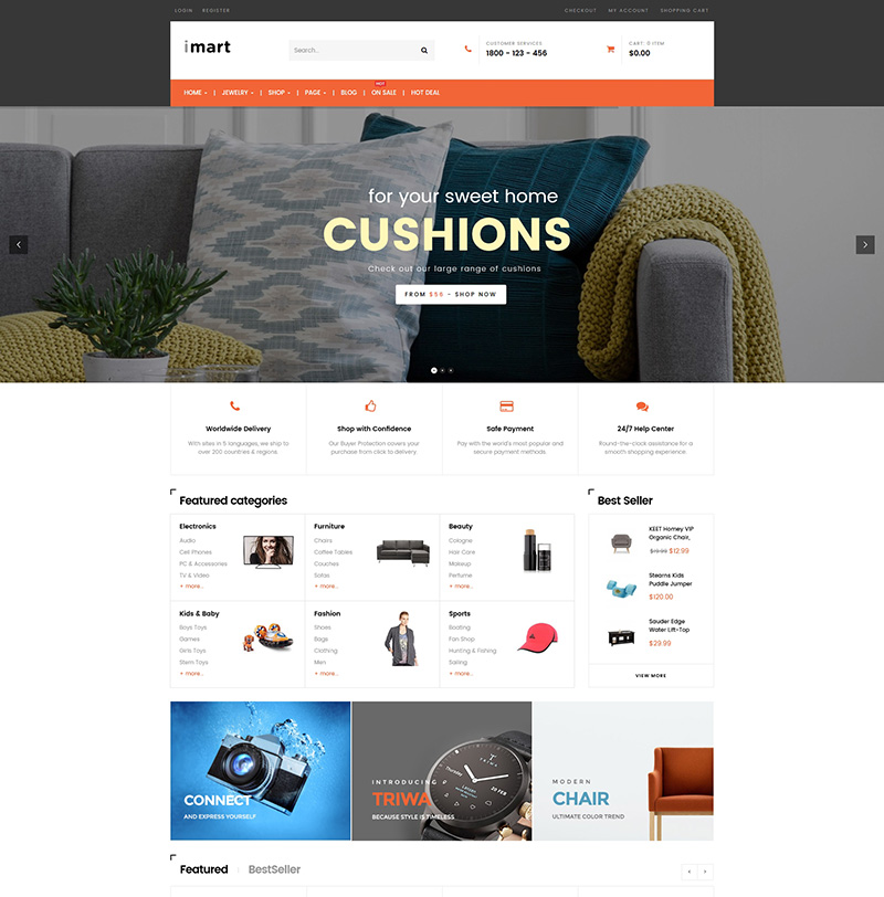 multi purpose premium ecommerce wordpress themes