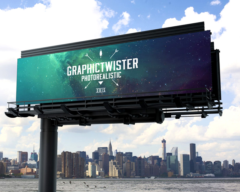 cool outdoor advertising billboard mockups psd for free