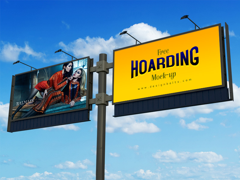 unique outdoor advertising billboard mockups psd