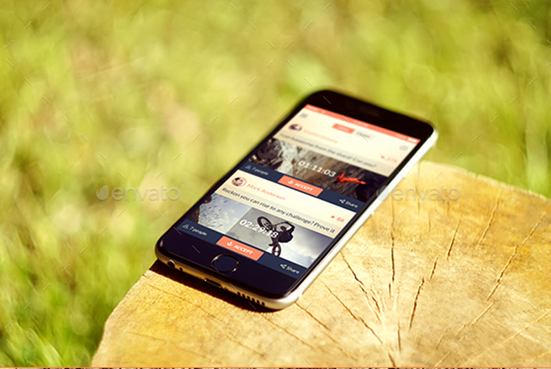coolest premium iphone 6 psd mockups