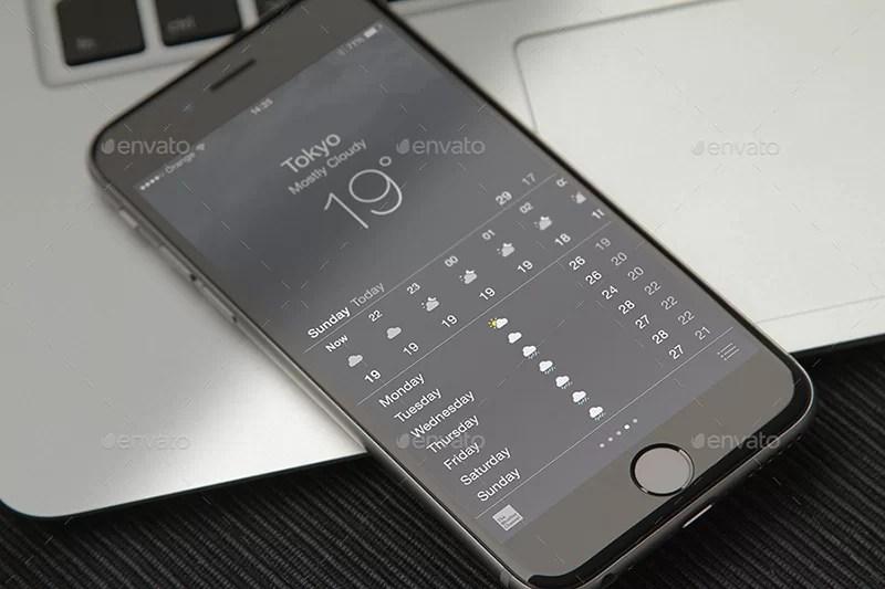 nice premium iphone 6 closeup mockup psd