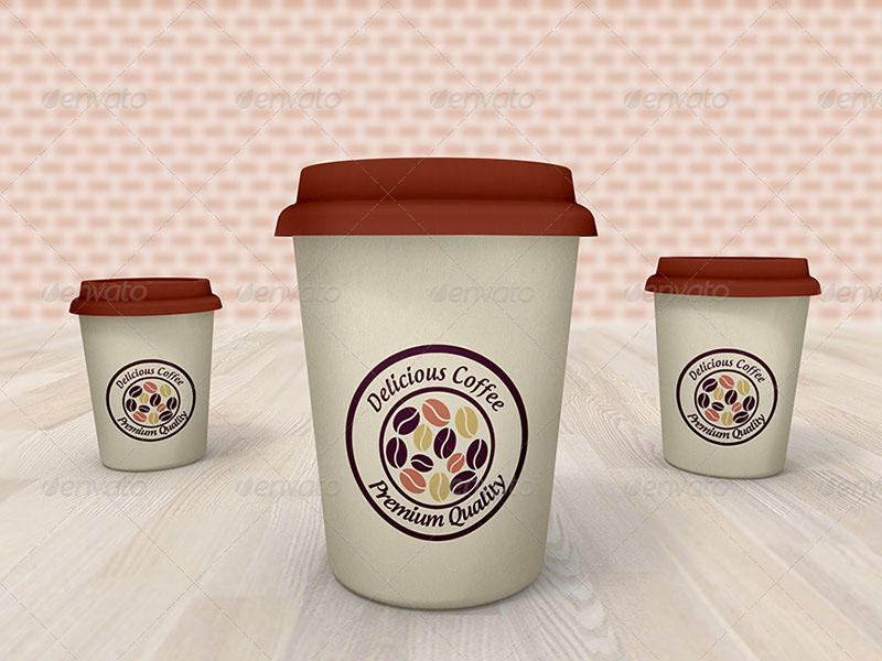 great premium coffee cup mockup template psd