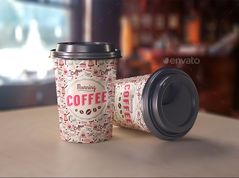 awesome premium coffee cup mockup psd