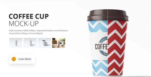 cool premium coffee cup mockup template psd