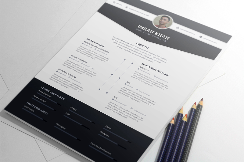 25+ modern and wonderful PSD resume templates free download - Loud Read