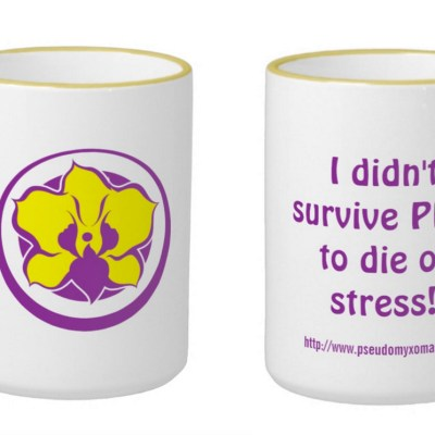 Pseudomyxoma Survivor ringer mug I didn't survive PMP to die of stress!